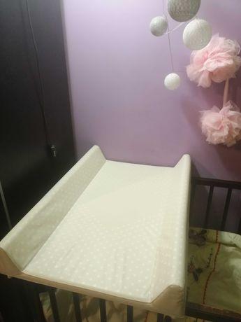 Przewijak na łóżeczko usztywniony stan idealny rozm. 70 cm, do 11kg