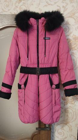 Пальто куртка зима зимнее для девочки