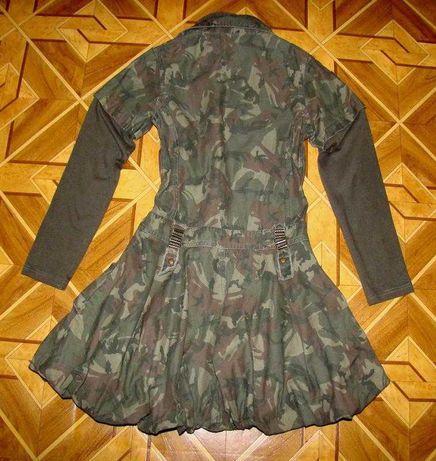Камуфляжное платье для девочки 10-12 лет