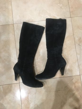 Сапоги замшевые и ботинки