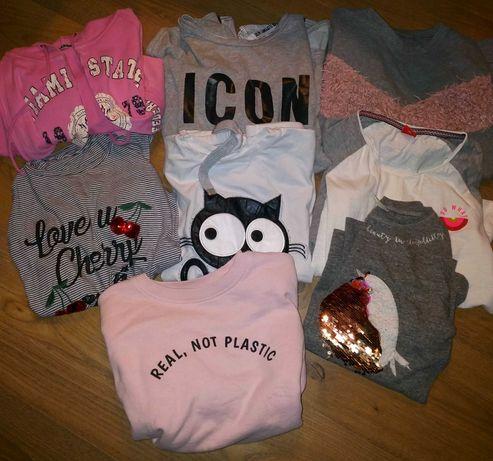 Zestaw bluz 8 szt. Zara, Reserved, Voga na dziewczynkę 10,11,12 lat