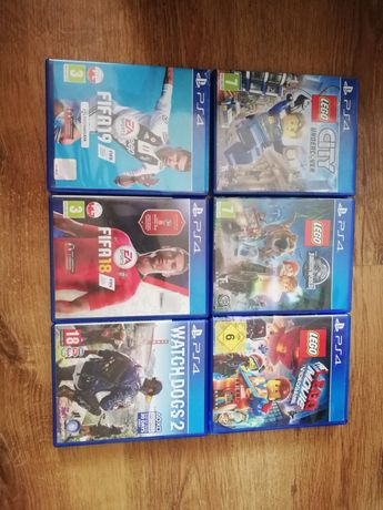 Gry na PS4: watch dogs 2, Fifa 18, 19, Lego różne części
