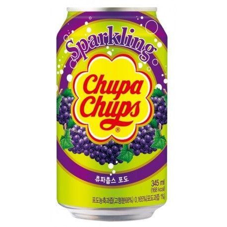 Напиток Chupa Chups Sparkling Drink Strawberry, Grape, Orange. Корея