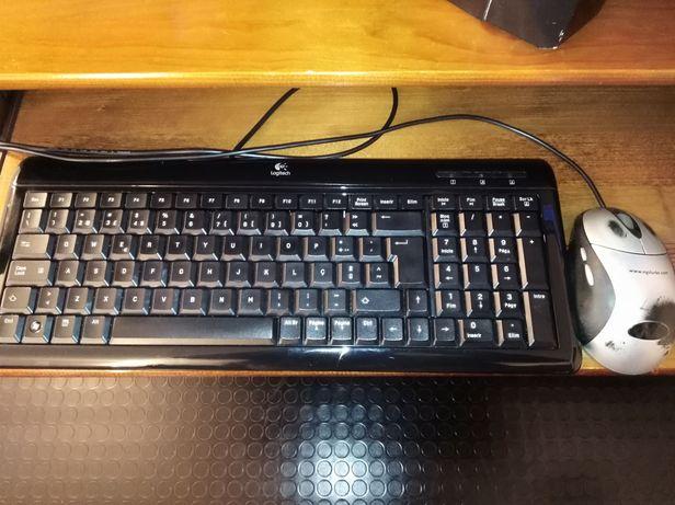 Teclado computador Logitec Usb (Ultra Flat) e rato Usb