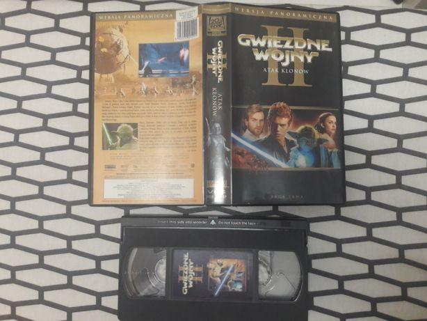 Gwiezdne Wojny Atak Klonów VHS PL NAPISY wersja panoramiczna unikat