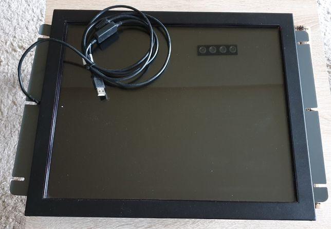 Monitor z panelem dotykowym USB wraz ze stelażem do montażowym