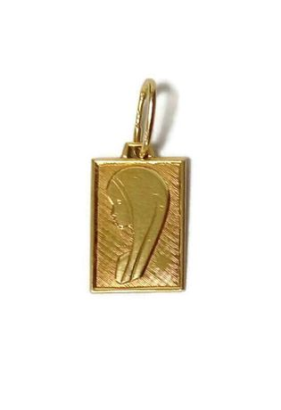Wyrób jubilerski używany - złota zawieszka medalik 583