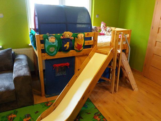 Duńskie FLEXA zestaw łóżeczko pietrowe zjeżdżalnia