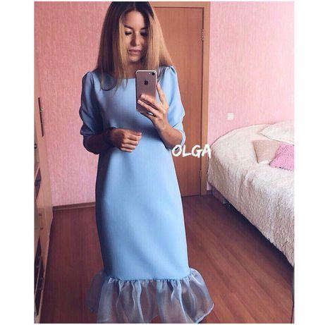 Платье с органзой