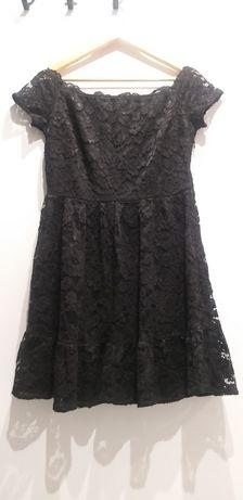 Sukienka czarna z koronki firmy Orsay