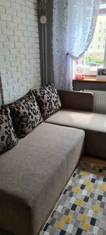 sofa narożna narożnik beżowa
