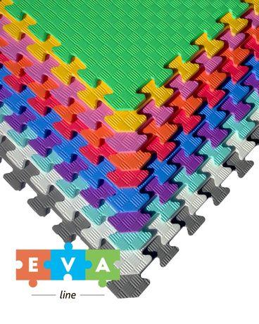 Коврик Мягкий пол пазл 50*50 см Eva-Line покрытие для детских комнат