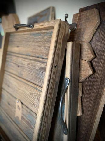 Drewniana taca Taca z starego drewna 33x47 cm