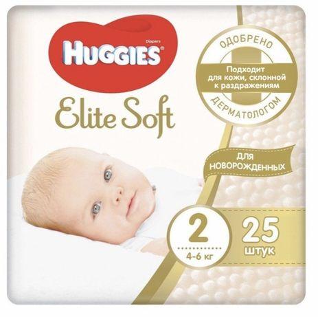 Подгузники Huggies Elite Soft 2 4-6 кг 25 шт.