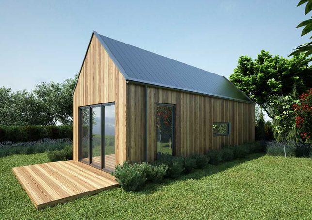 Stodoła, domek letniskowy z antresolą, domek całoroczny drewniany