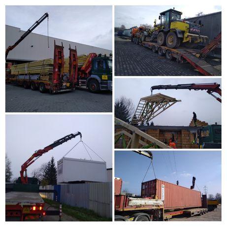 Transport usługi HDS, transport kontenerów, transport niskopodwoziowy