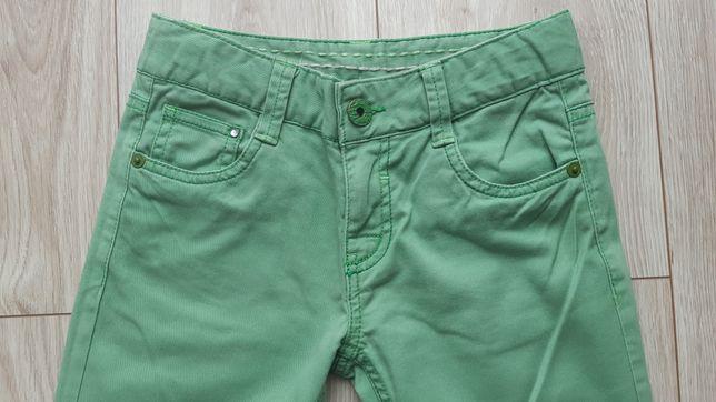128/134 zielone spodnie