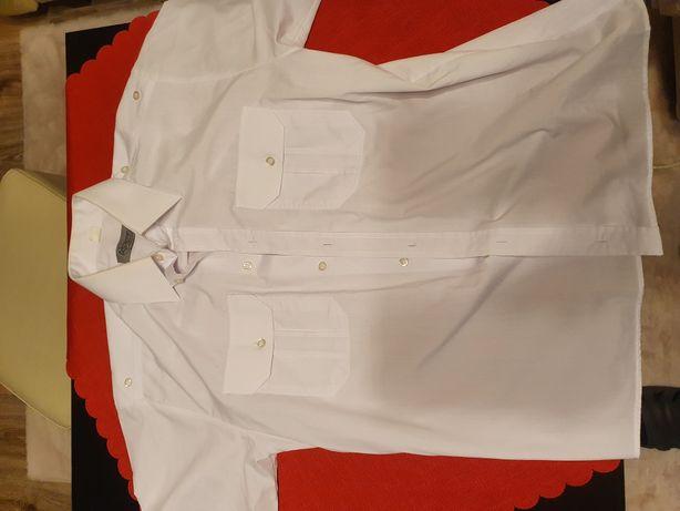 Koszula SW biała damska krótki rękaw