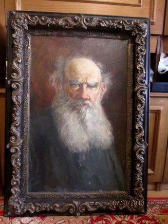 Портрет холст масло, Подпись художника.