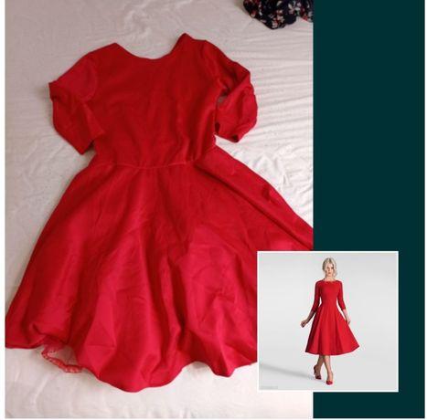 Sukienka żywa czerwień L
