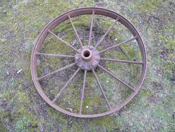 zabytkowe koło metalowe od pojazdu wojskowego 62cm nr 2