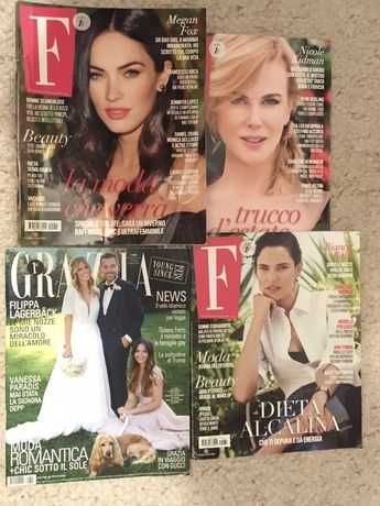 Włochy Grazia i F czasopisma do nauki włoski magazyn