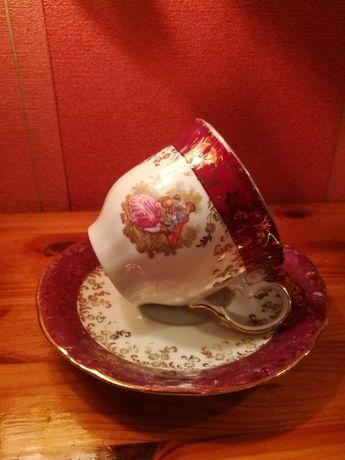 Stara filiżanka porcelana 24 karaty-złocona H.K. Bavaria - handarbeit