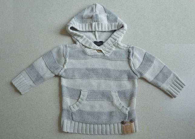 Sweterek z wełną Next roz. 80 (9-12 miesięcy) ciepły idealny na jesień