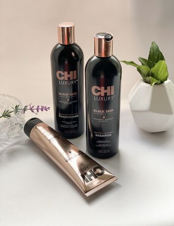 CHI Luxury Black Seed Oil шампунь, кондиціонер, маска, еліксир