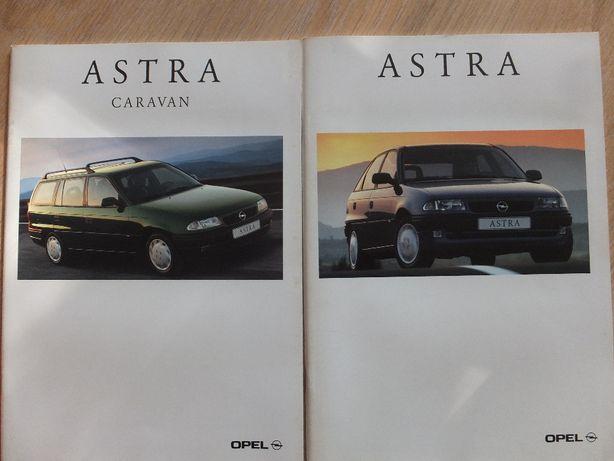Prospekty Opel Astra I + Caravan-max wydania