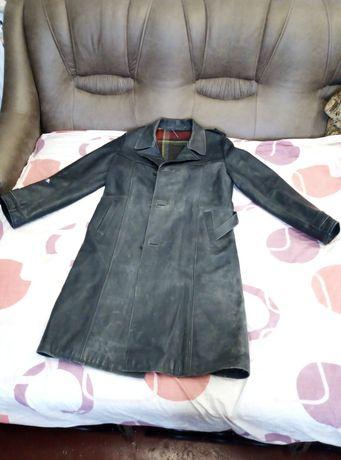Пальто, плащ кожаный