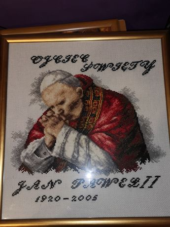 Obraz haft xxx Jan Paweł II