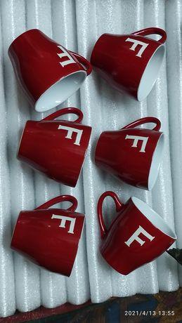 Чашки кофейные Ferarra Италия 6 шт новые