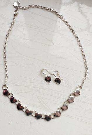 Набор,комплект - подвеска(цепочка) и серьги, сережки+в подарок браслет