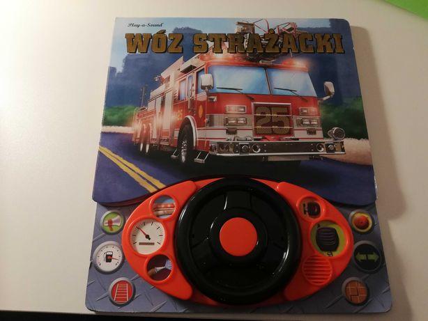 Wóz strażacki książka plus kierownica