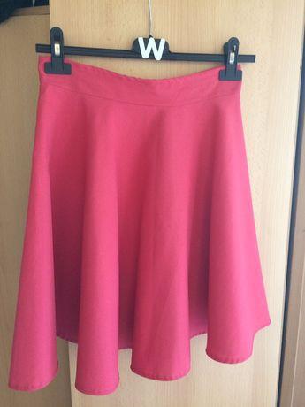 Rozkloszowana spódnica z koła różowa