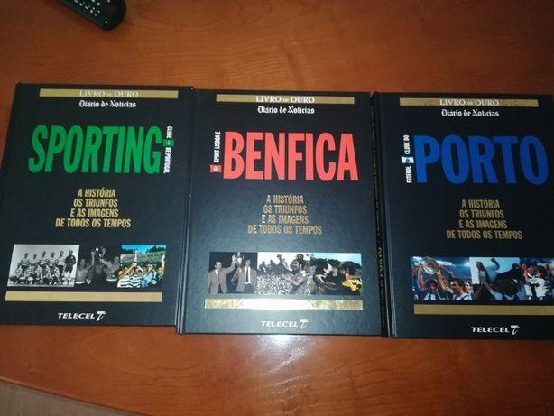 3 Livros Benfica/Sporting/Porto