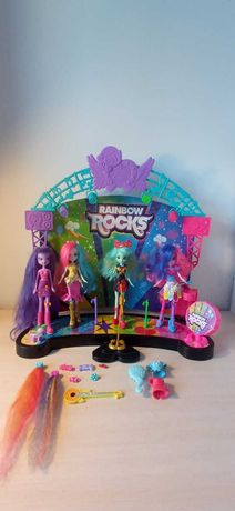 Little pony scena reinbow rock 4 lalki