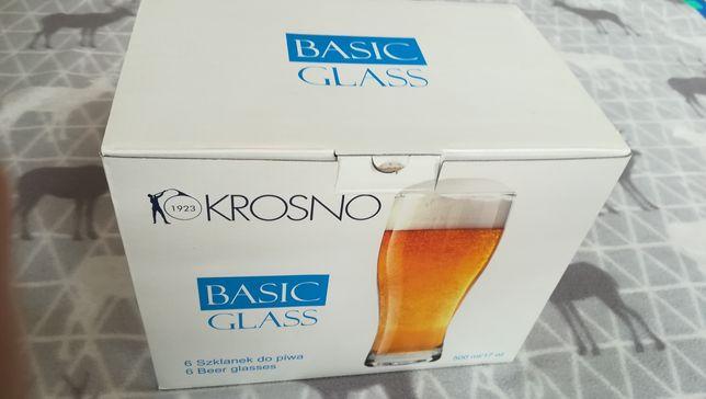 Szklanki do piwa Krosno NOWE - 6szt / 500ml