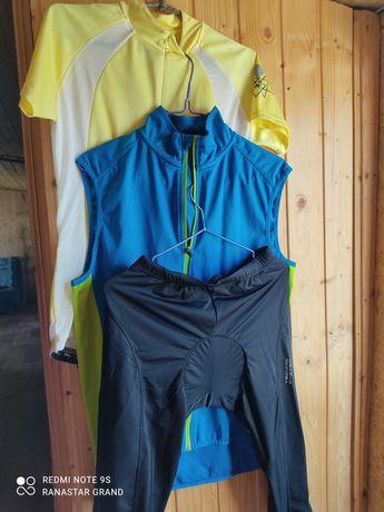 Велошорты с памперсом, вело футболка, вело жилет, новые
