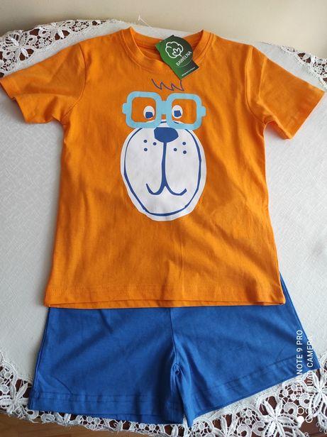 Piżamka letnia chłopięca rozmiar 116 NOWY