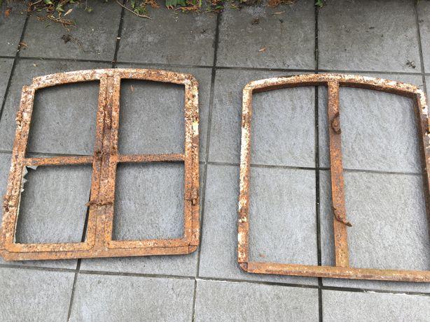 Zlew żeliwny okno loft