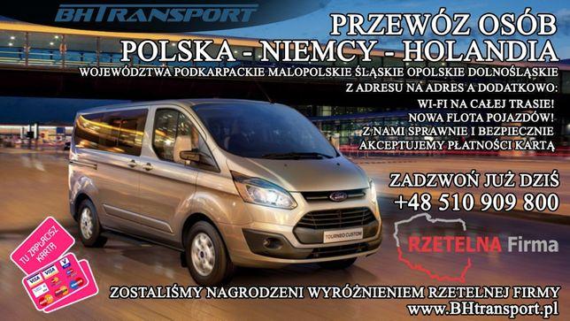 Przewóz osób POLSKA NIEMCY HOLANDIA Bus do Niemiec Holandii PRZEWOZY