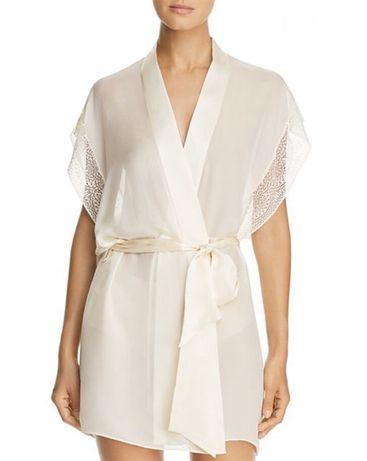 Calvin Klein CK Black Szlafrok/piżama/podomka Jedwab XS/S