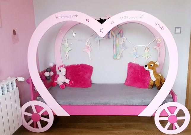 Łóżko dla dziewczynki - kareta