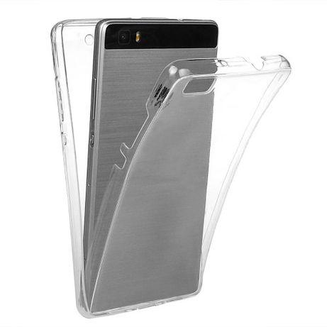 Huawei P8 Lite Capa 360 Gel Dupla Frente Verso Transparente Xiaomi TOP