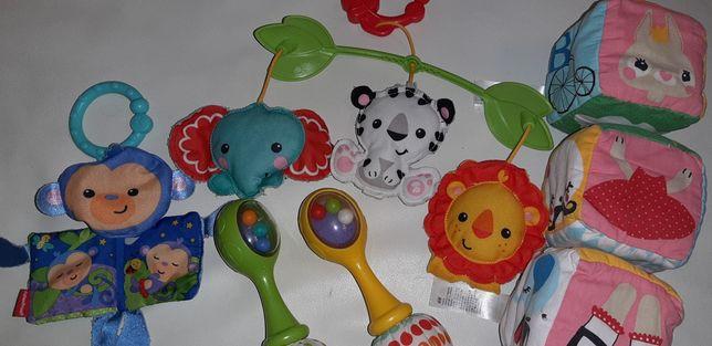 Zestaw zabawek dla niemowlaka Fisher Price i H&M