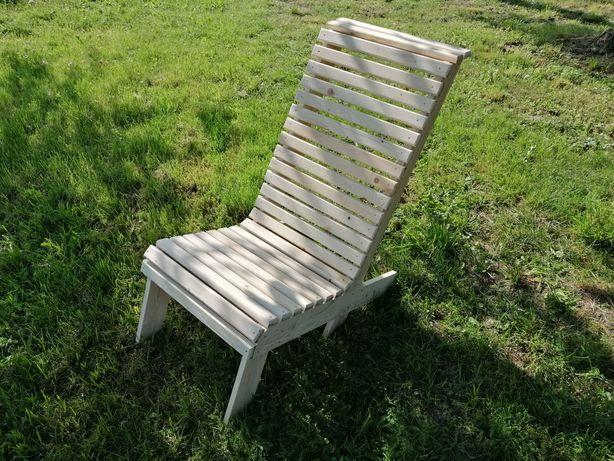 Fotel ogrodowy leżak drewniany krzesło