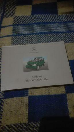 Instrukcja obsługi, Mercedes A-Klase po niemiecku.