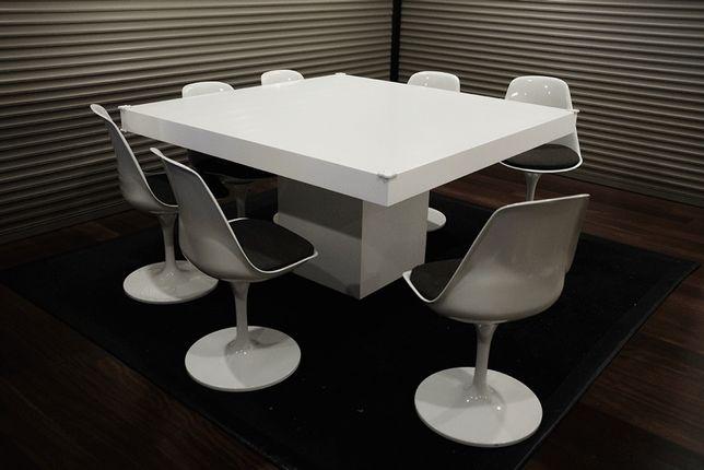 Mesa jantar quadrada branca